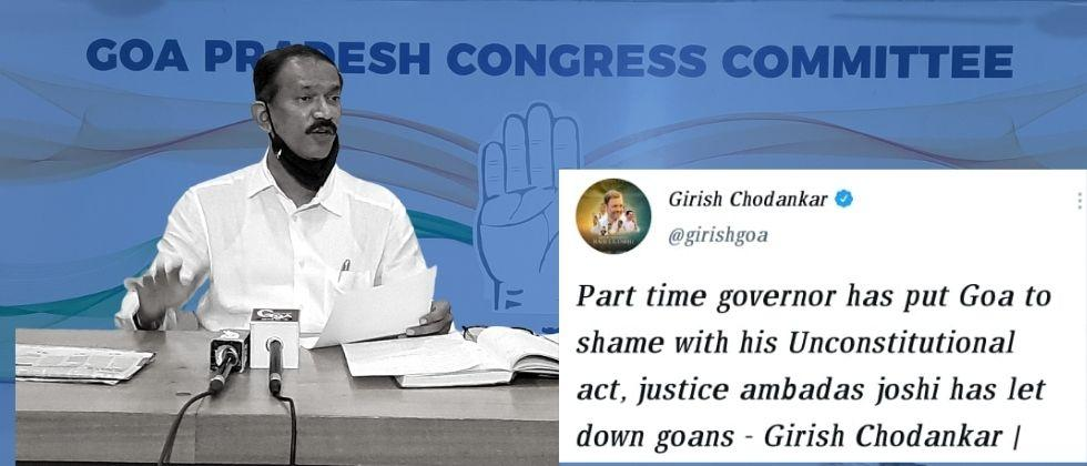 Demand for a full time governor who will do justice to the people of Goa