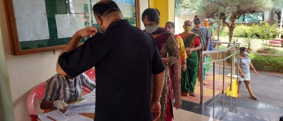 The five municipal elections in Goa was 66 70 percent turnout
