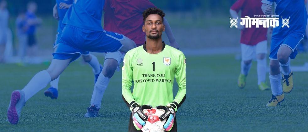 Goa Pro League Football  Veteran Melroy in the Dhempo team