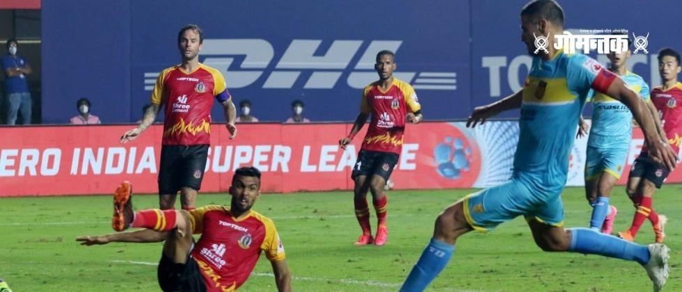 ISL 2021 East Bengal was stopped from behind with an injury time goal