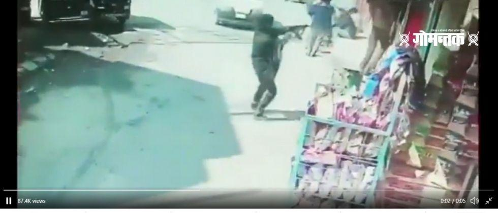 Terrorist opens fire in Srinagar district in Kashmir today The video of the incident went viral