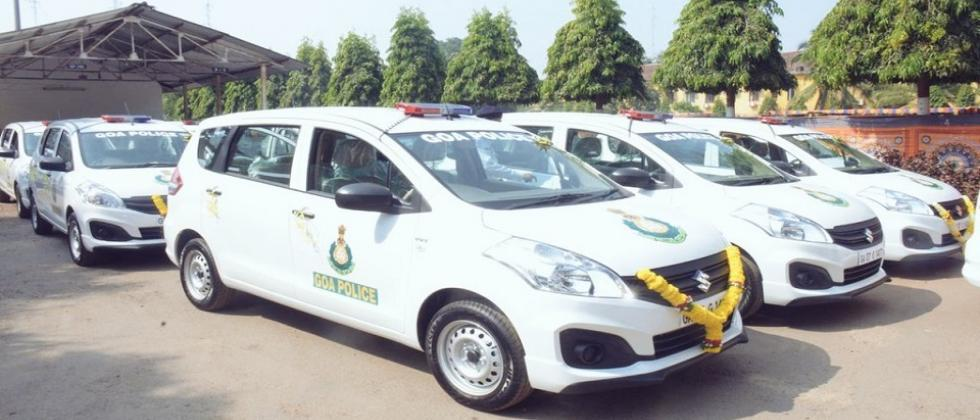 New vehicles for goa police