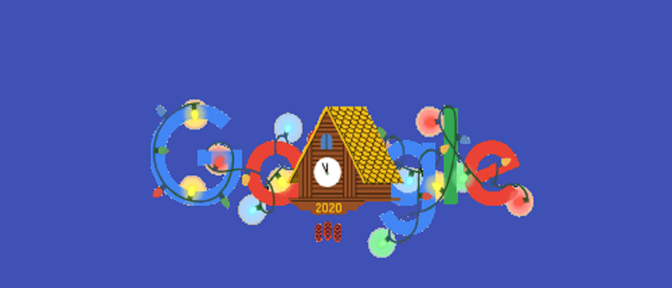 New Years Eve 2021 Google Doodle Google begins 2021 countdown with a special clock doodle