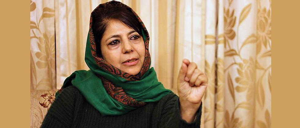 Mehbooba Mufti claims that she has been was re home arrested along with his daughter in Shrinagar