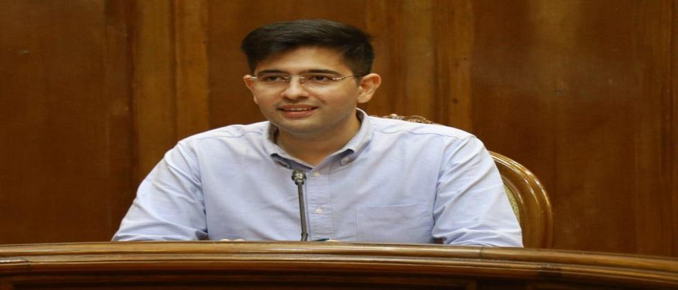 AAP spokesperson Raghav Chadha accepts the challenge of Power Minister Nilesh Cabral