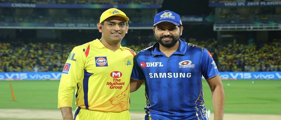 chennai super kings to play with mumbai indians in the IPL today