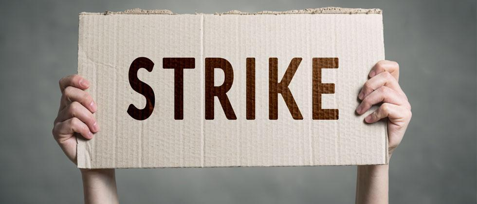 Worker unions announced strike today all over India