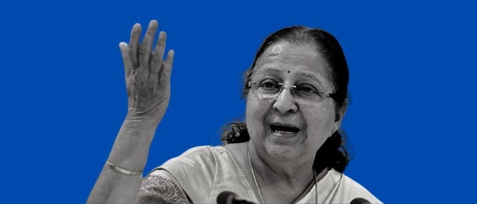 Sumitra Mahajan was furious with those who tweeted about her death