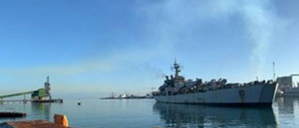 INS Kesari landed at the port of Louis in Mauritius under the Sea Expedition