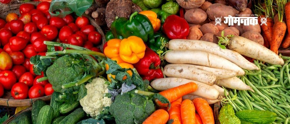 One ton of vegetables have been exported from Goa to Belgaum every day