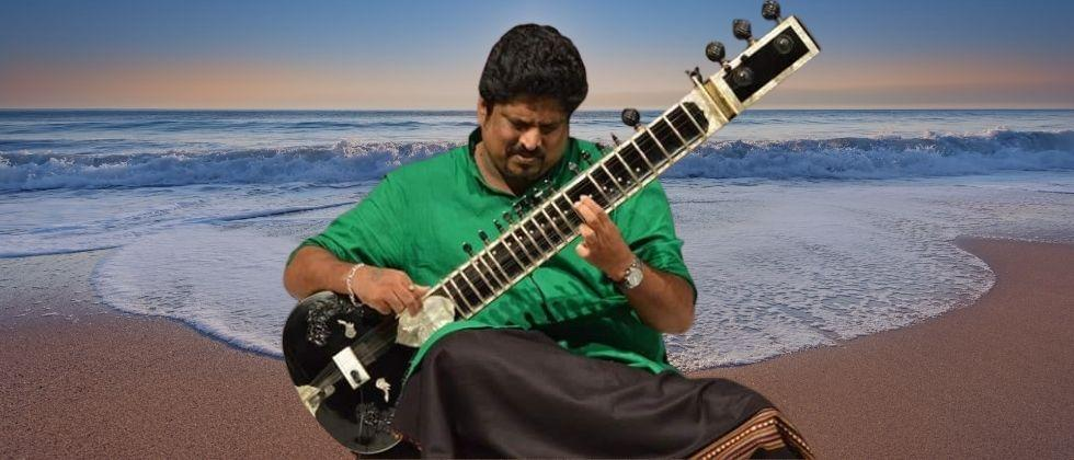 Yograj Naik performed a fusion program with Western musicians from Goa