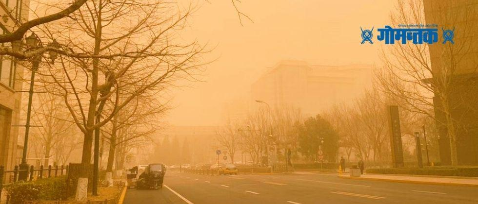 Sandstorm The Chinese Meteorological Administration issued a yellow alert in Beijing