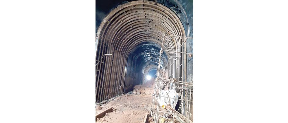 Pernem tunnel work inspection report for resuming railway service