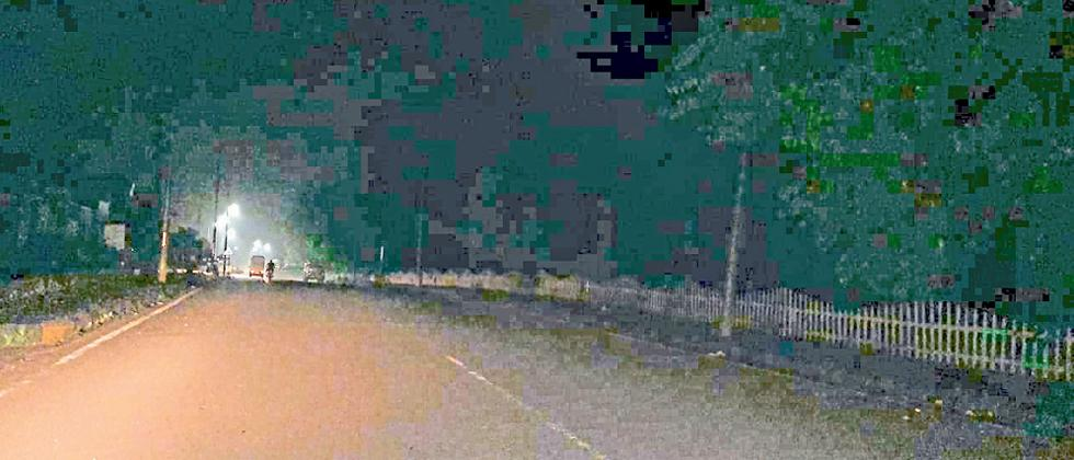 streetlights not working, Valpoi motorists hit cattles