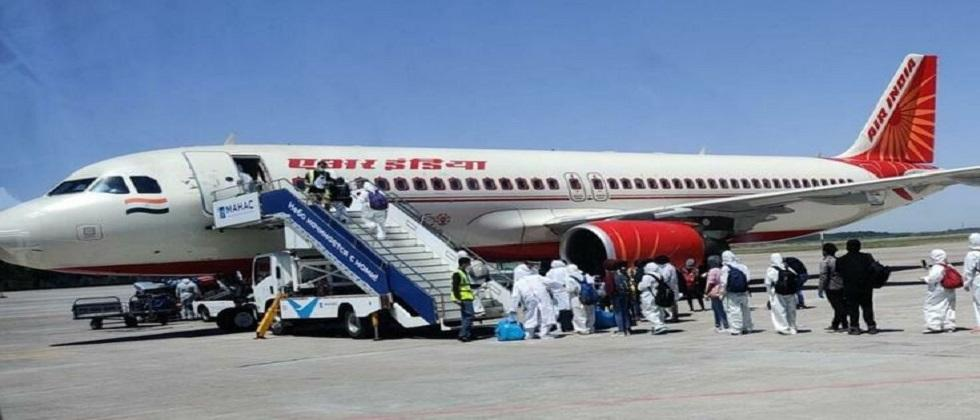 An Air India flight carrying 246 passengers from Britain landed at Delhi Airport
