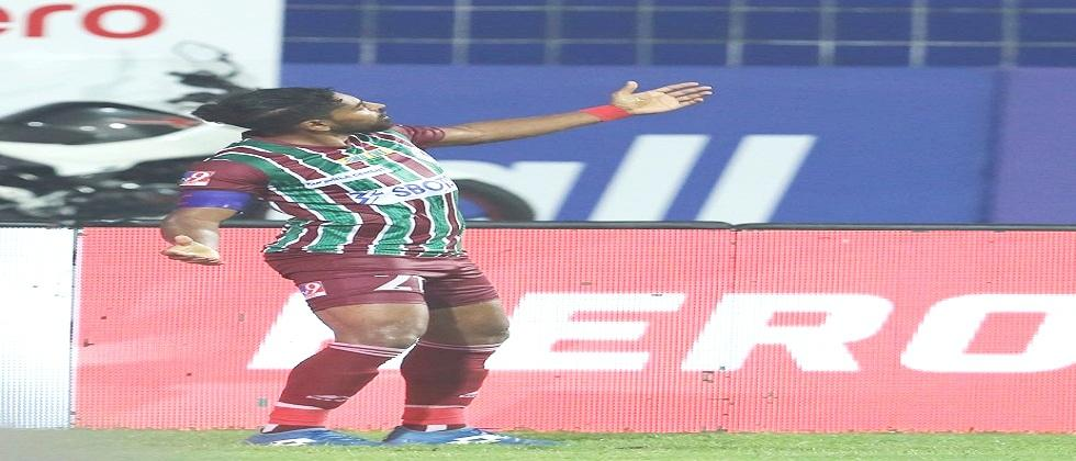 ATK Mohun Bagan goals in the last minute of injury time FC Odisha defeated by one goal in yesterdays ISL match