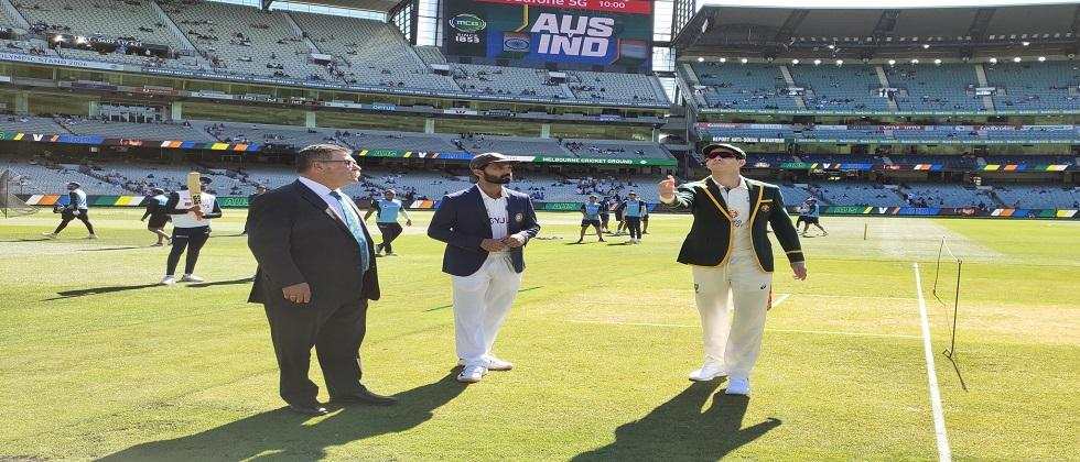 India Vs Australia 2nd test mach started at Melbourne Cricket ground Jadeja takes excellent catch dismisses head