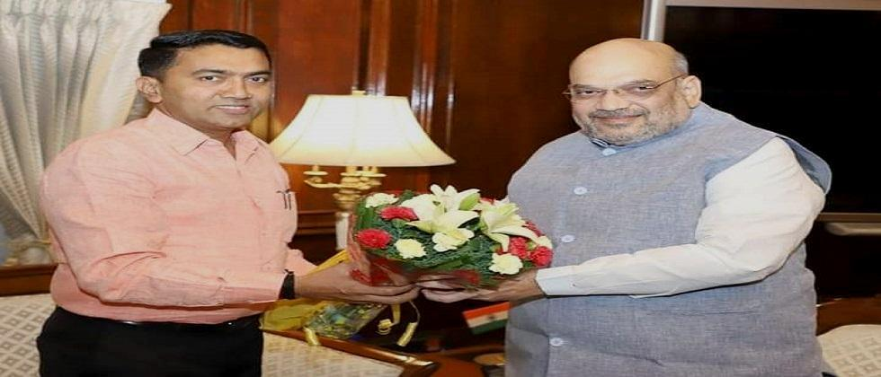 Goa Chief Minister Pramod Sawant on Thursday met Union Home Minister Amit Shah in New Delhi to discuss issues in the state