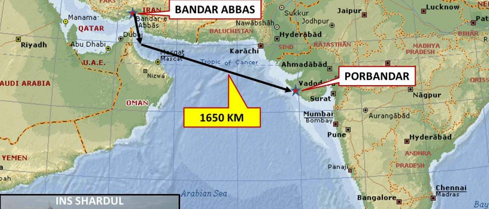 "Navy launches ""Sea Bridge"" operation to evacuate Indians from Iran"