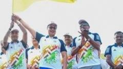 Kiren rijiju flagging off