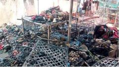 Fruit Market Fire damage millions of rupees