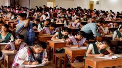 Examination of Class XII starts at 17 centers in peace