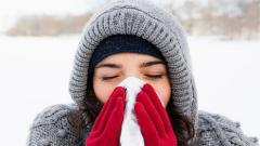 Winter cold and sneeze