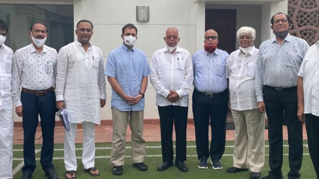 Rahul Gandhi held a meeting with Goa Congress leaders in Delhi on July 22, 2021