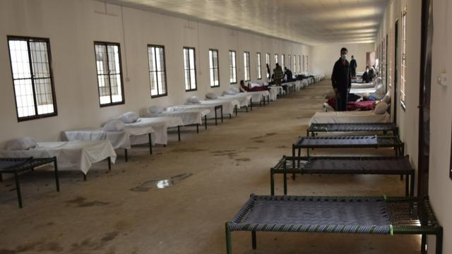 A quarantine centre set up to accommodate people. File photo