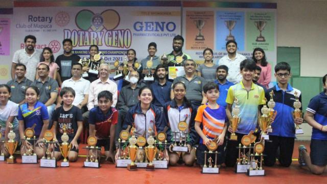 All winners of the Major Ranking Table Tennis Tournament.