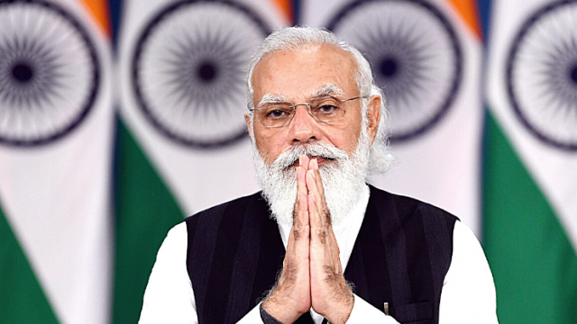 Prime Minister Narendra Modi addresses healthcare workers and vaccine beneficiaries of Goa virtually.