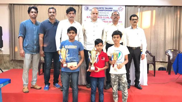 All the winners of the Salcete Taluka Rapid Chess Tournament.