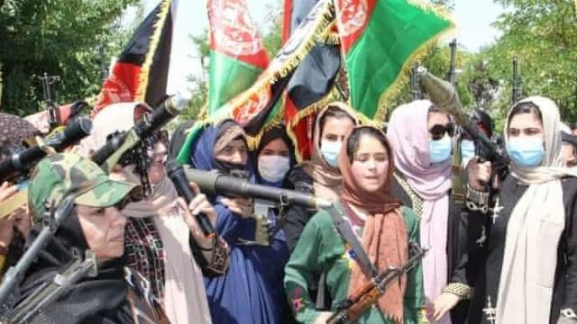 Hundreds of women demonstrated against the Taliban (Source: IANS)