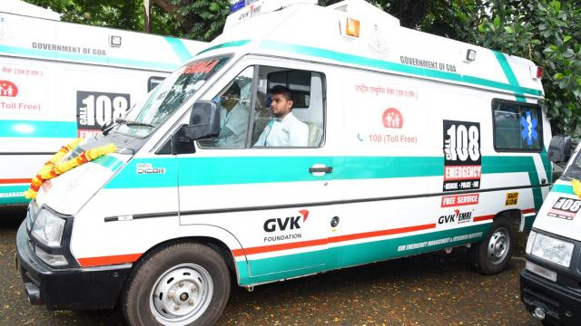 File pic of a GVK 108 ambulance