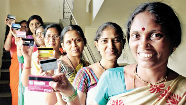 Women at Abira Creations feel empowered after getting their ATM cards