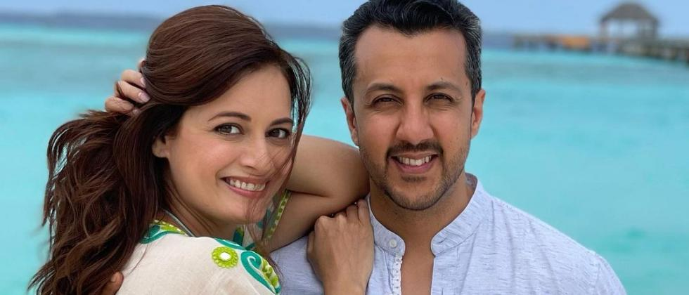 Earlier this year, Dia Mirza shared this picture with her husband Vaibhav Rekhi at Maldives (Instagram/@diamirzaofficial)