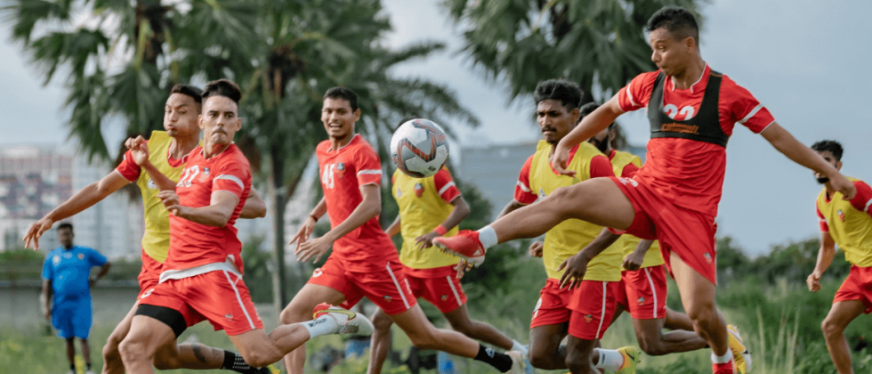 FC Goa in training before their match group match in Durand Cup