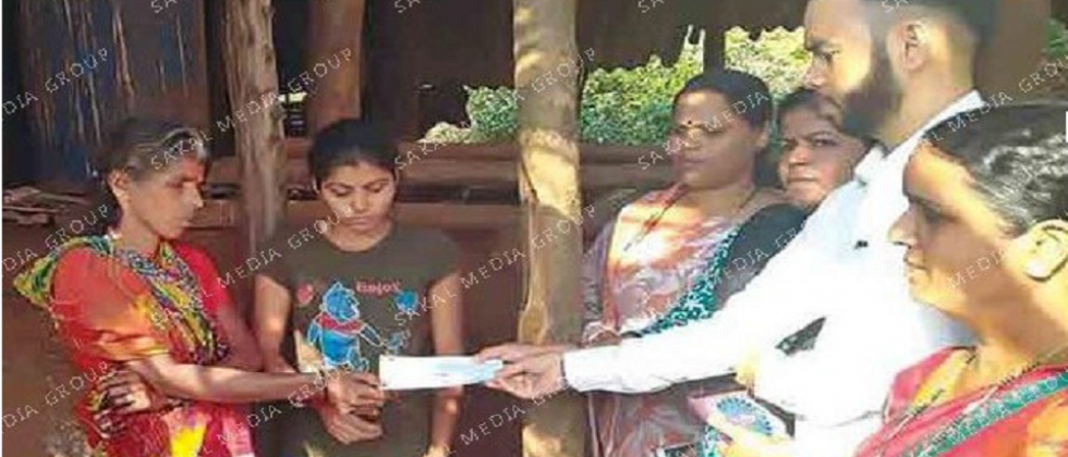 Forest department compensates two families of Golavali village