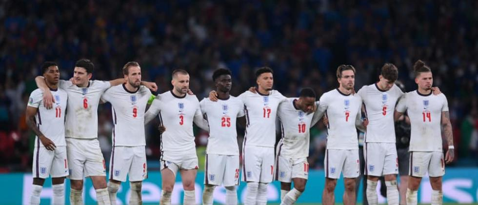 The England team during the Euro Cup final