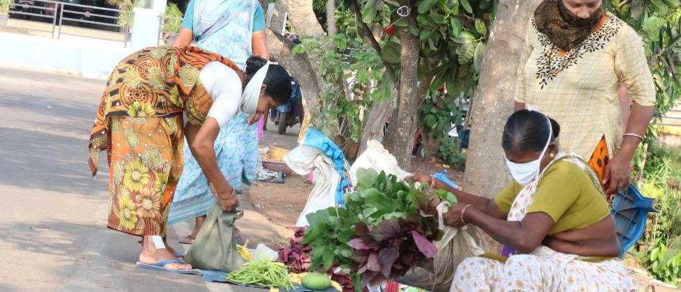Local farmers selling their produce at roadside in Taleigao. Pic: Atish Naik