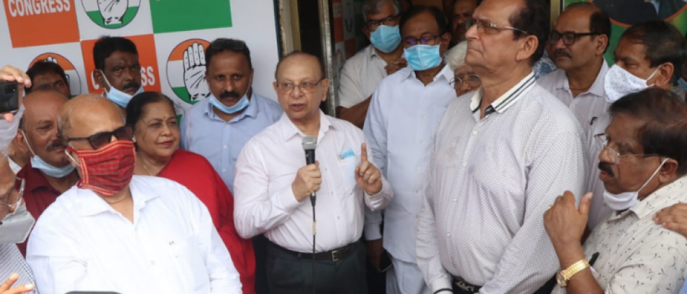 Veteran Congress leader and Poriem MLA Pratapsingh Rane inaugurated the Congress party's central election campaign office at Sesa Ghor, Patto Plaza on Thursday.