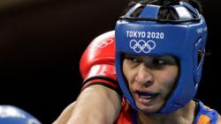 File Photo: India's Lovlina Borgohain during women's welter (64-69kg) preliminaries round of boxing at Tokyo 2020 Olympic Games on July 27, 2021. (AFP)