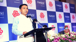 Chief Minister Pramod Sawant inaugurating he Fairfield by Goa Marriott at Marriott Benaulim on Tuesday, September 8, 2021