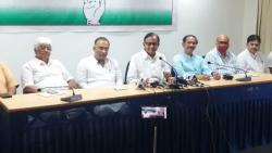 P Chidambaram holds a press conference in Goa on Thursday, 26 August, 2021