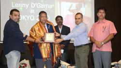 GABA felicitates Lenny D'gama for his contributions at the 2020 Tokyo Olympics