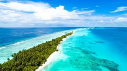 An aerial view of Maldives' stunning white-sand beaches and an amazing underwater world which makes it an obvious choice for a great holiday. (Unsplash)