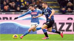 Ruiz cracker gives Napoli 1-0 Cup win at Inter Milan