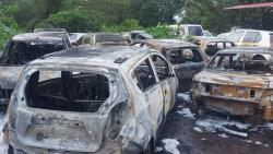 7 cars gutted by fire in Chinchinim
