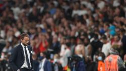 England's coach Gareth Southgate looks down on the touchline during the UEFA EURO 2020 final football match between Italy and England at the Wembley Stadium
