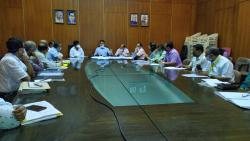Chief Minister Pramod Sawant chairs the meeting with regards to issues concerning monuments of Old Goa.